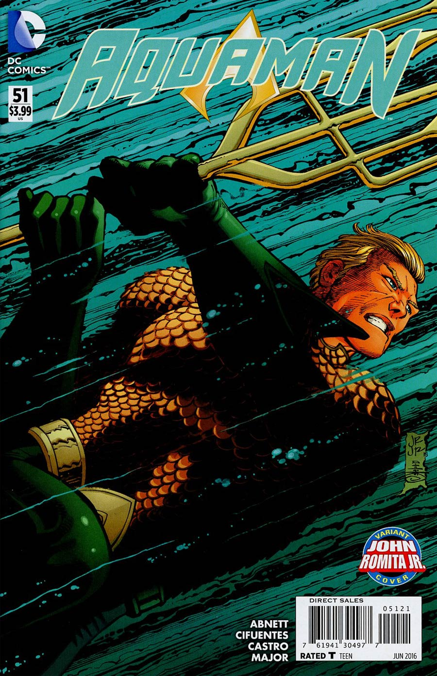 Aquaman Vol 5 #51 Cover B Variant John Romita Jr Cover