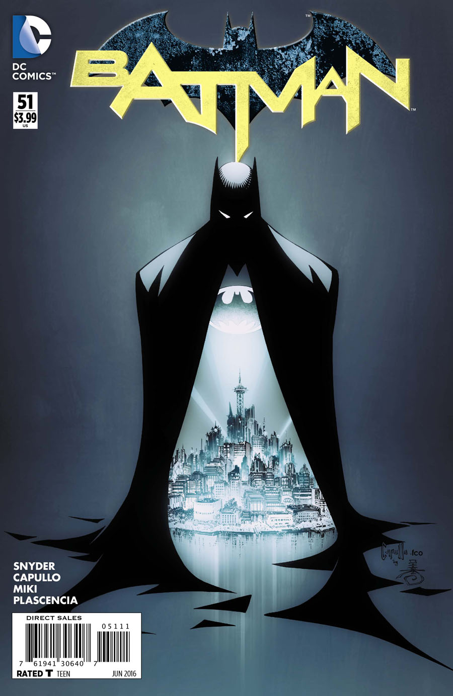 Batman Vol 2 #51 Cover A Regular Greg Capullo Cover