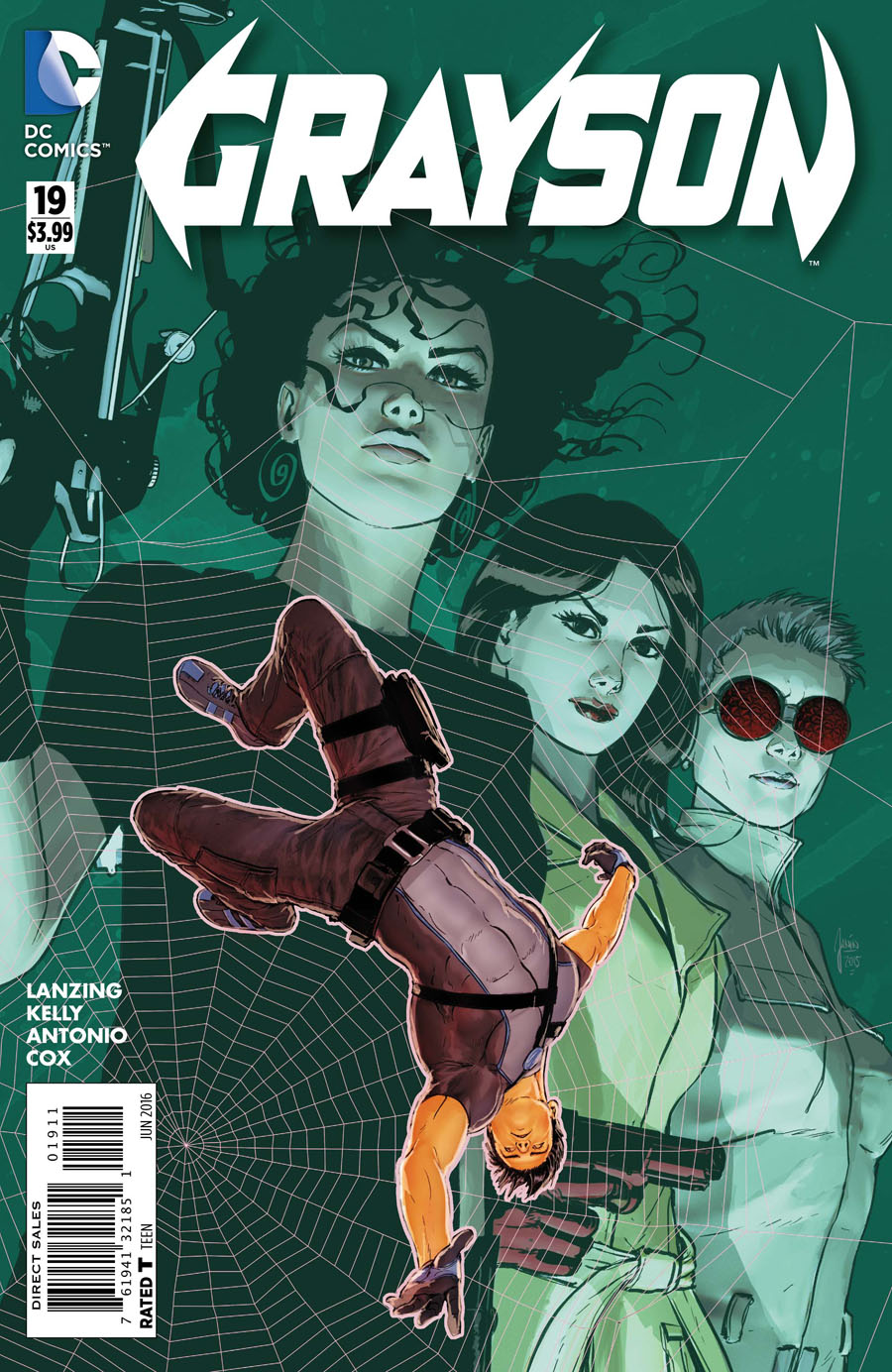 Grayson #19 Cover A Regular Mikel Janin Cover