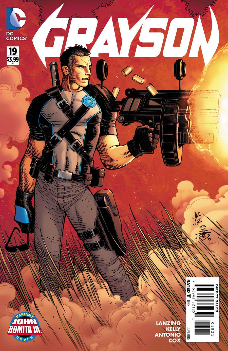 Grayson #19 Cover B Variant John Romita Jr Cover
