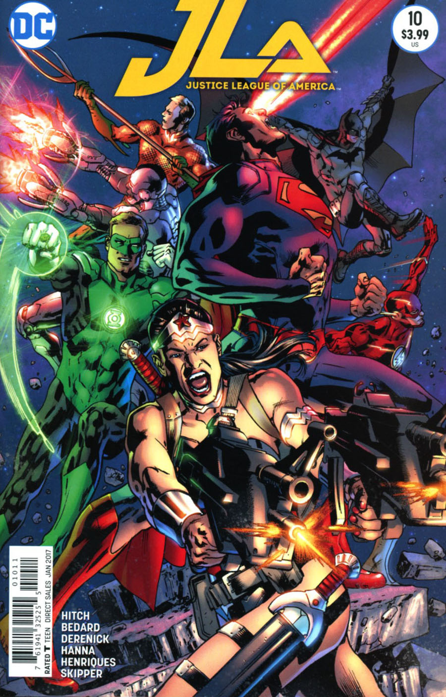 Justice League Of America Vol 4 #10 Cover A Regular Bryan Hitch Cover