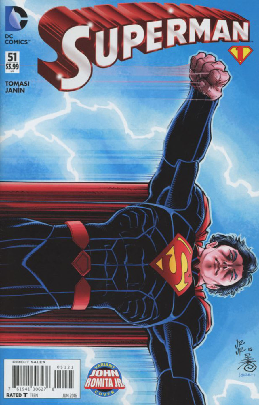 Superman Vol 4 #51 Cover B Variant John Romita Jr Cover (Super League Part 1)