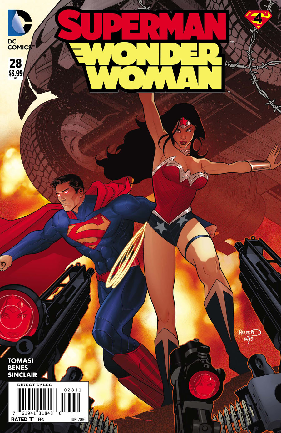Superman Wonder Woman #28 Cover A 1st Ptg Regular Paul Renaud Cover (Super League Part 4)