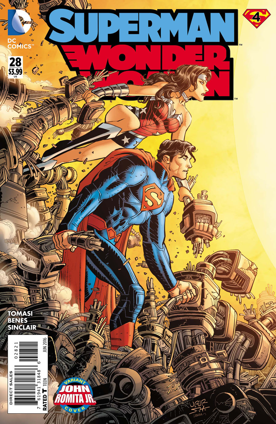 Superman Wonder Woman #28 Cover B Variant John Romita Jr Cover (Super League Part 4)