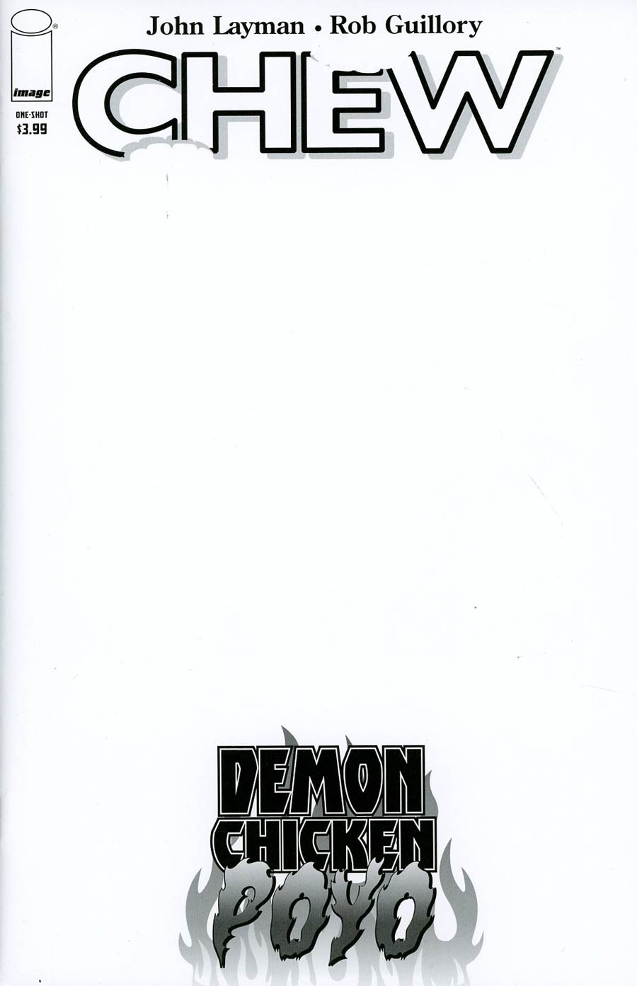 Chew Demon Chicken Poyo #1 Cover B Variant Rob Guillory Sketch Cover
