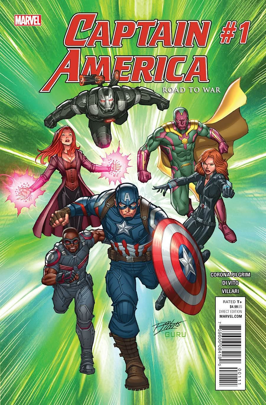 Captain America Road To War #1 Cover A Regular Ron Lim Cover