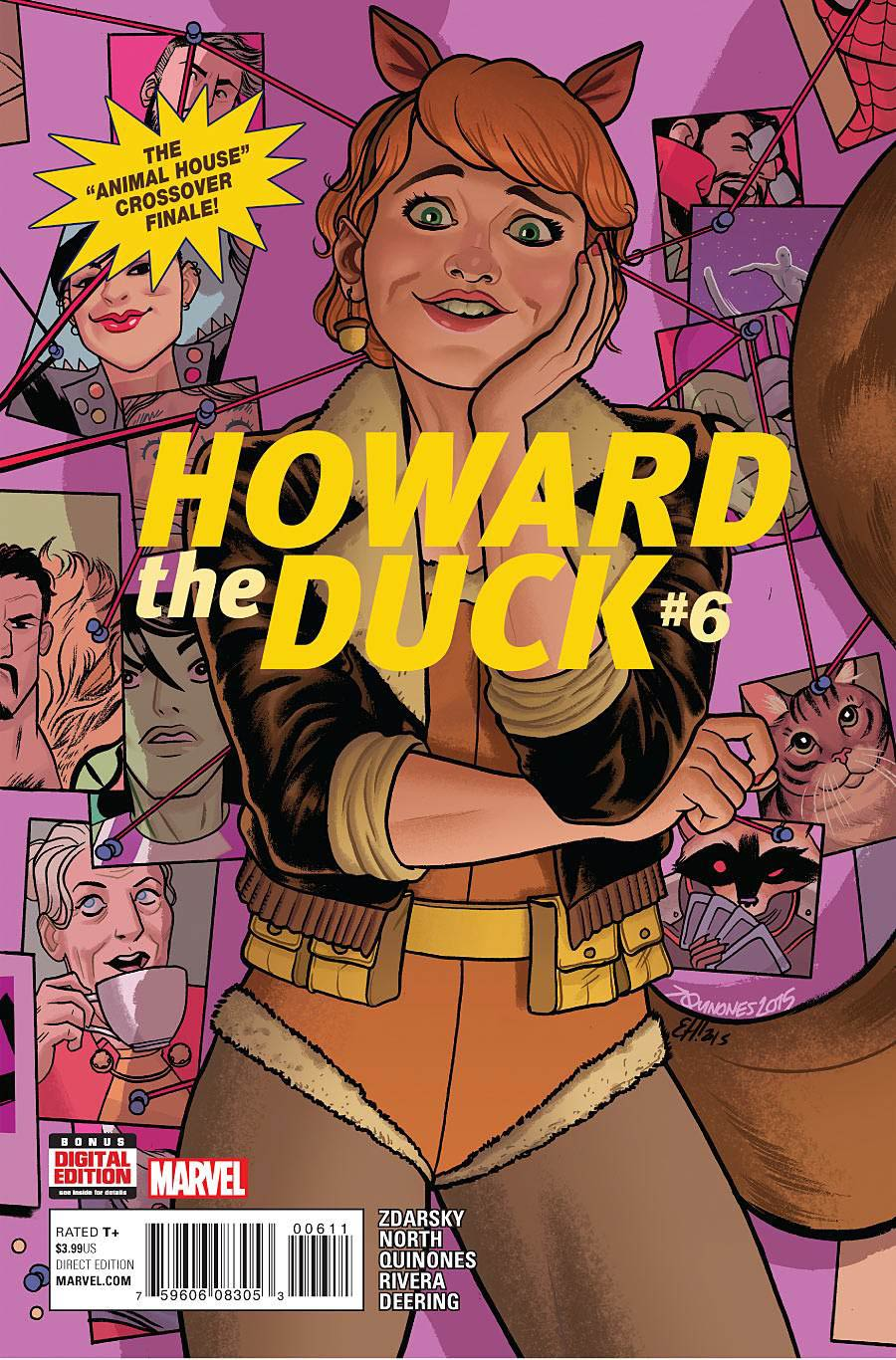 Howard The Duck Vol 5 #6 Cover A Regular Joe Quinones & Erica Henderson Cover (Animal House Part 2)