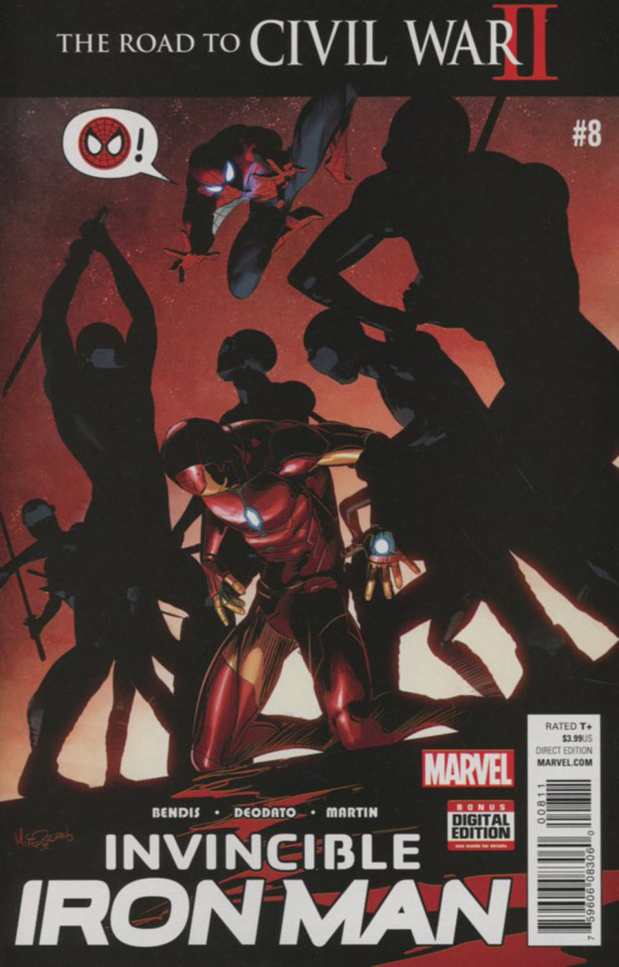 Invincible Iron Man Vol 2 #8 Cover A 1st Ptg (Road To Civil War II Tie-In)