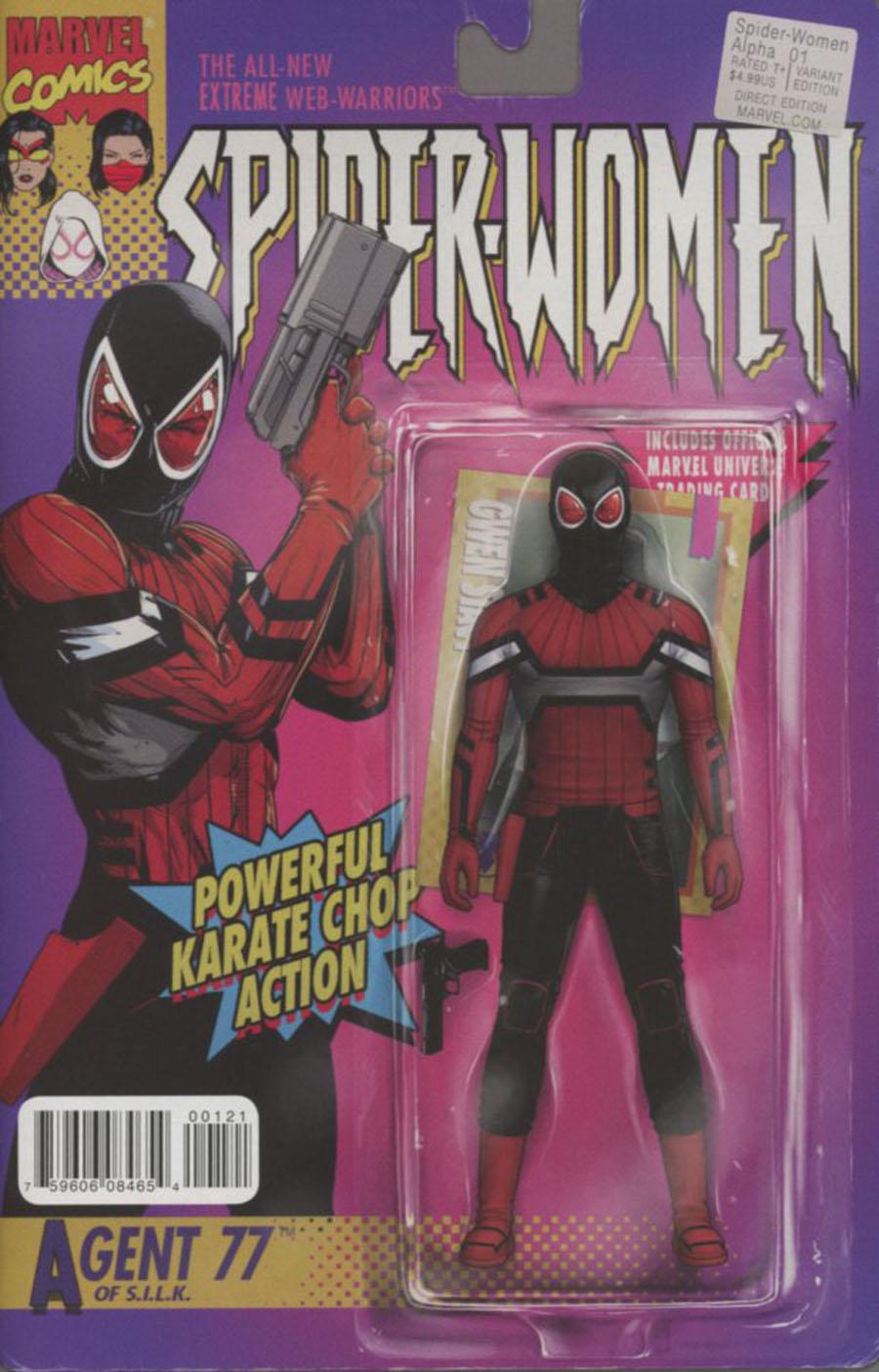 Spider-Women Alpha #1 Cover C Variant John Tyler Christopher Action Figure Cover (Spider-Women Part 1)