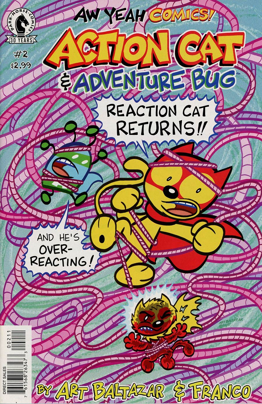 Aw Yeah Comics Action Cat And Adventure Bug #2