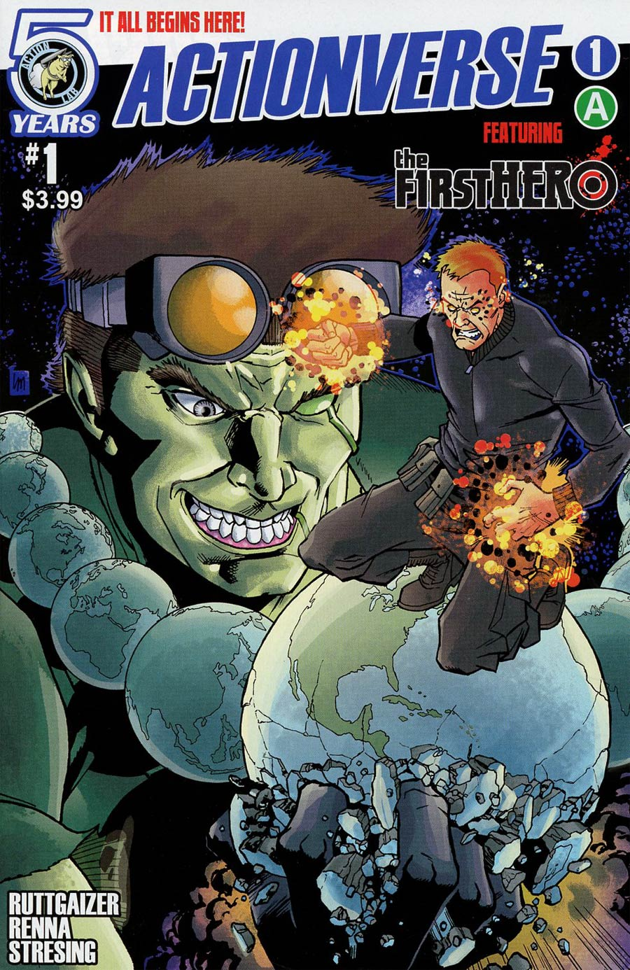 Actionverse #1 Featuring F1rst Hero Cover A Regular Lee Moder & Fred Stressing Cover