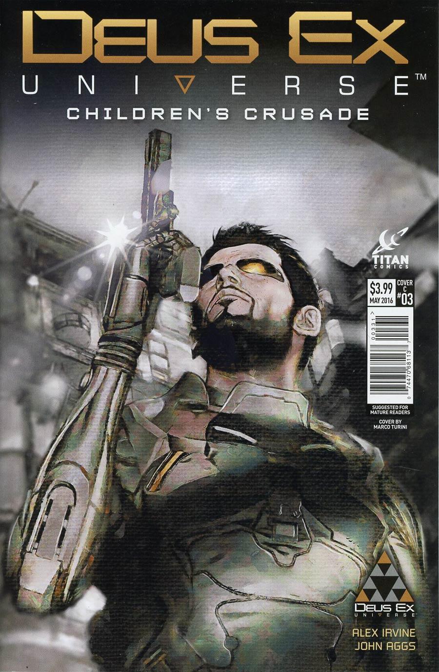 Deus Ex Universe Childrens Crusade #3 Cover C Variant Marco Turini Cover