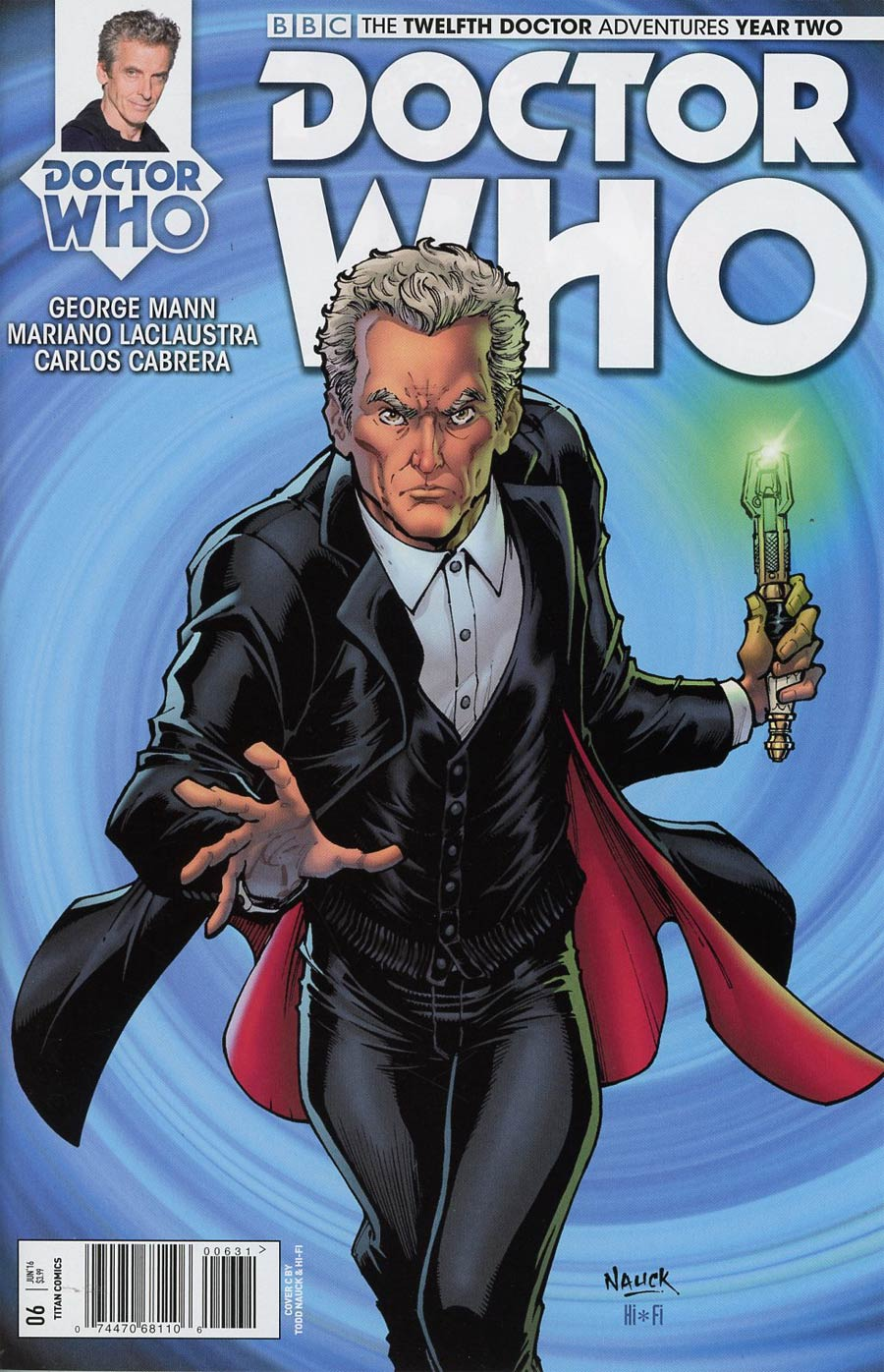 Doctor Who 12th Doctor Year Two #6 Cover C Variant Todd Nauck Cover
