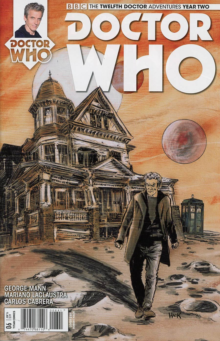 Doctor Who 12th Doctor Year Two #6 Cover D Variant Robert Hack Cover