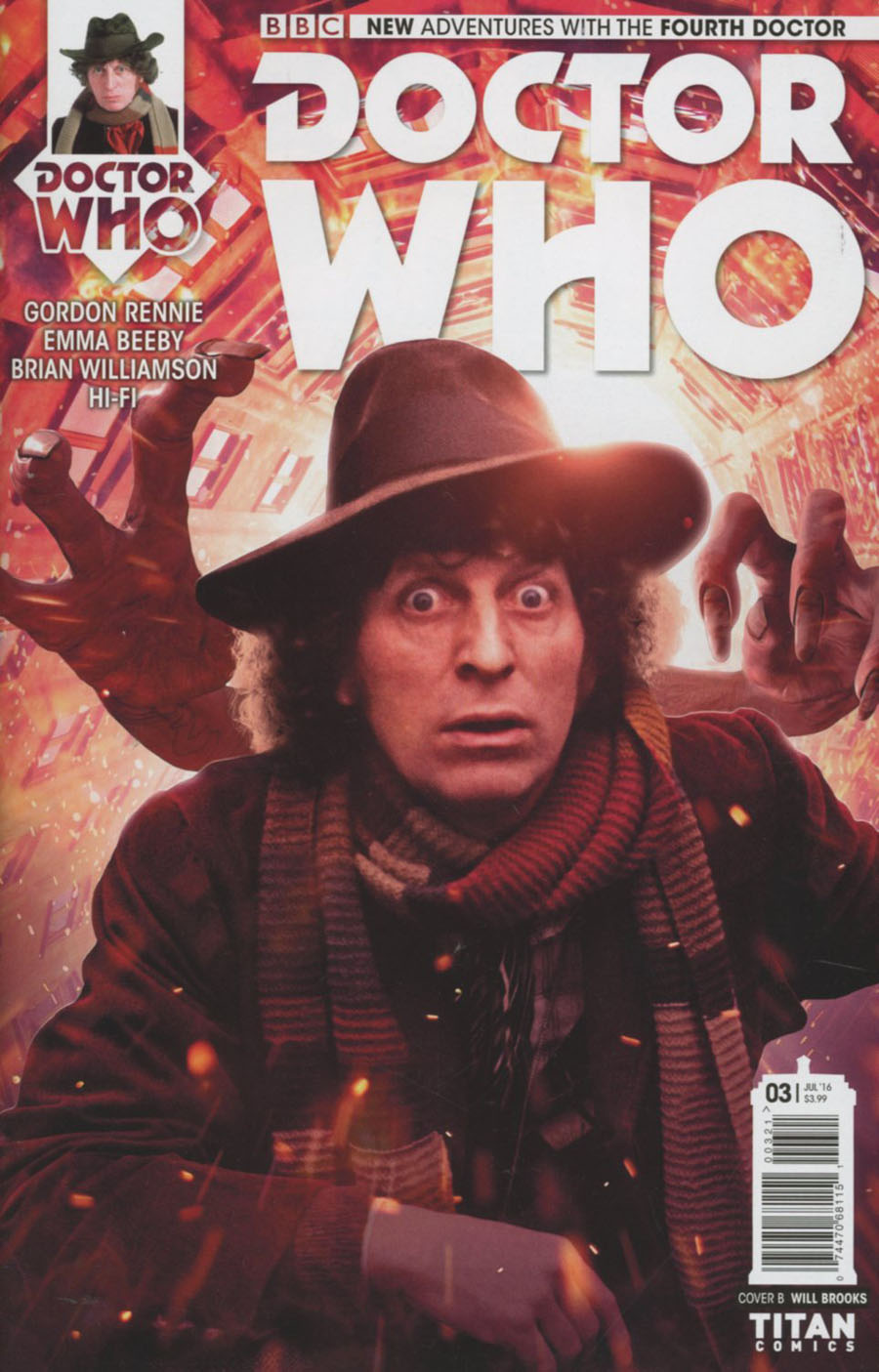 Doctor Who 4th Doctor #3 Cover B Variant Photo Subscription Cover