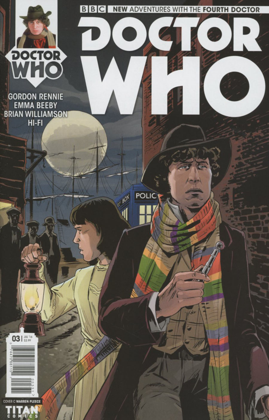 Doctor Who 4th Doctor #3 Cover C Variant Warren Pleece Cover