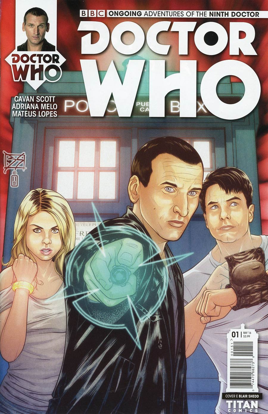 Doctor Who 9th Doctor Vol 2 #1 Cover E Variant Blair Shedd Cover