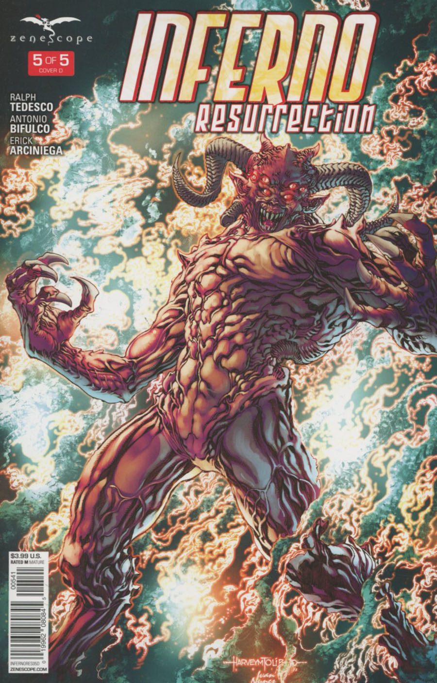Grimm Fairy Tales Presents Inferno Resurrection #5 Cover D Harvey Tolibao