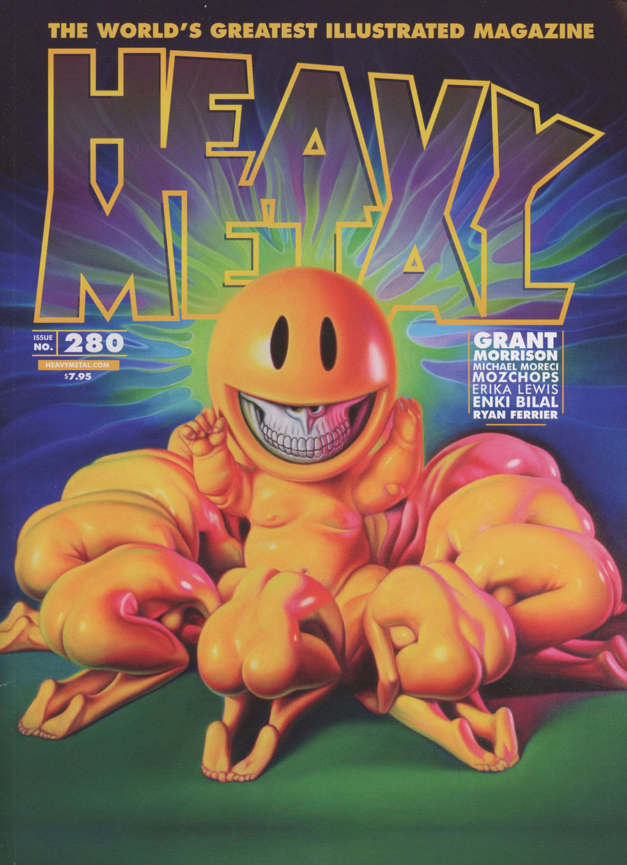 Heavy Metal #280 Cover A Regular Ron English Grin God Cover
