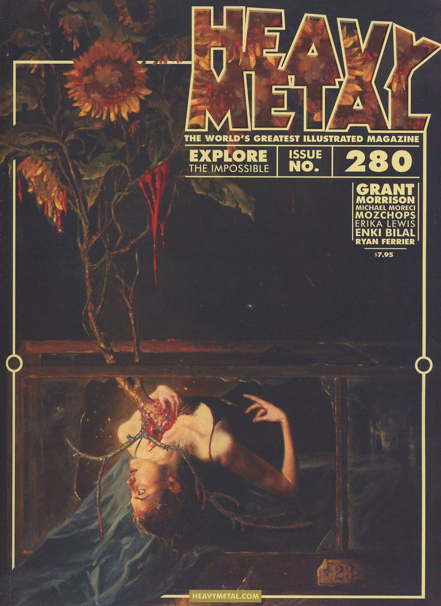 Heavy Metal #280 Cover B Variant Gail Potlocki Botanical No 23 Cover