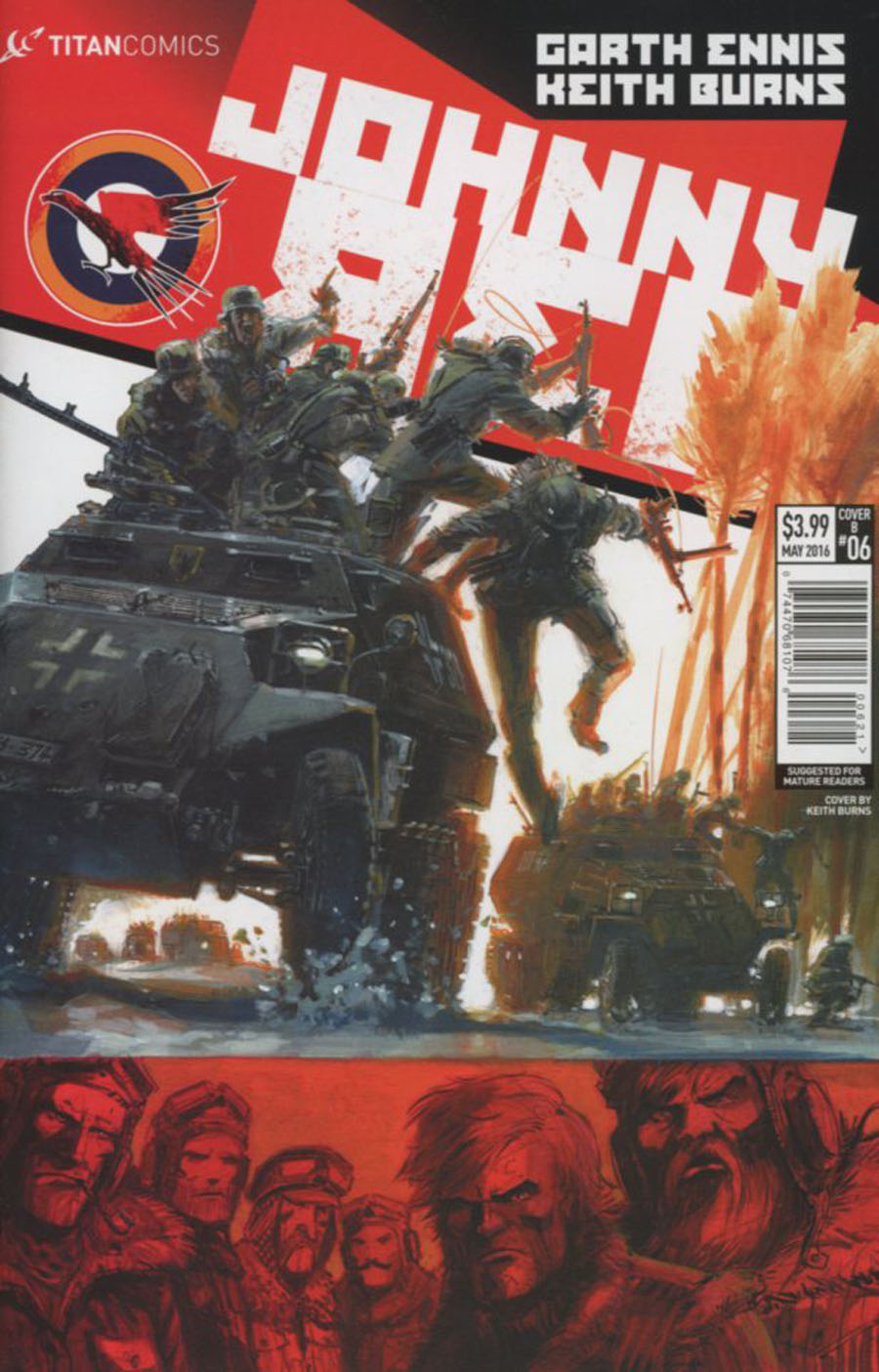 Johnny Red #6 Cover B Variant Keith Burns Subscription Cover