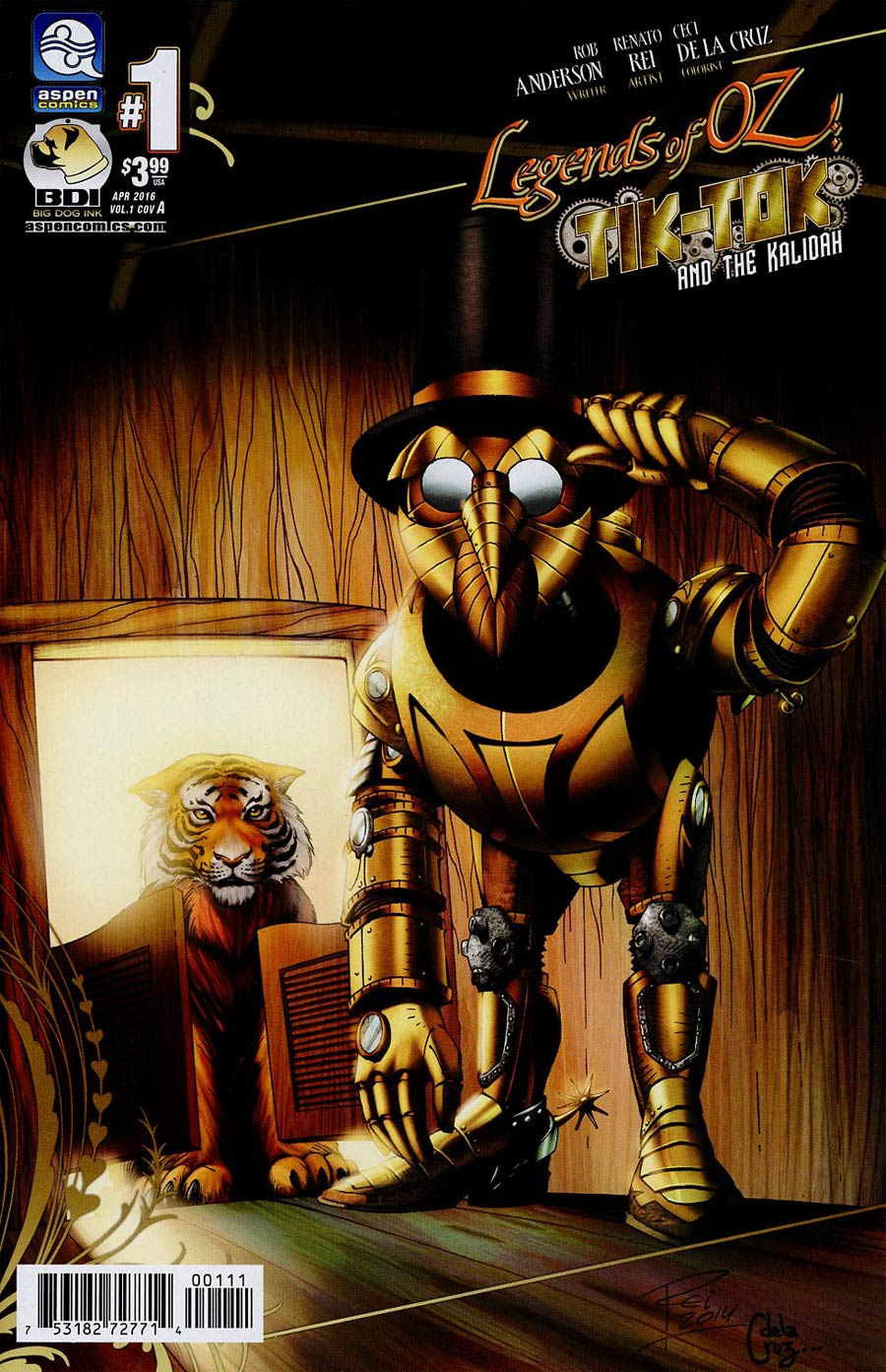Legends Of Oz Tik-Tok And The Kalidah #1 Cover A Regular Renato Rei Cover