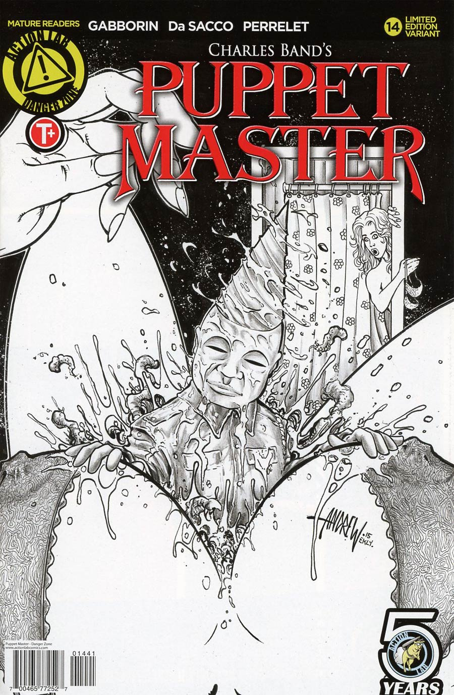 Puppet Master #14 Cover D Variant Andrew Mangum Kill Sketch Cover