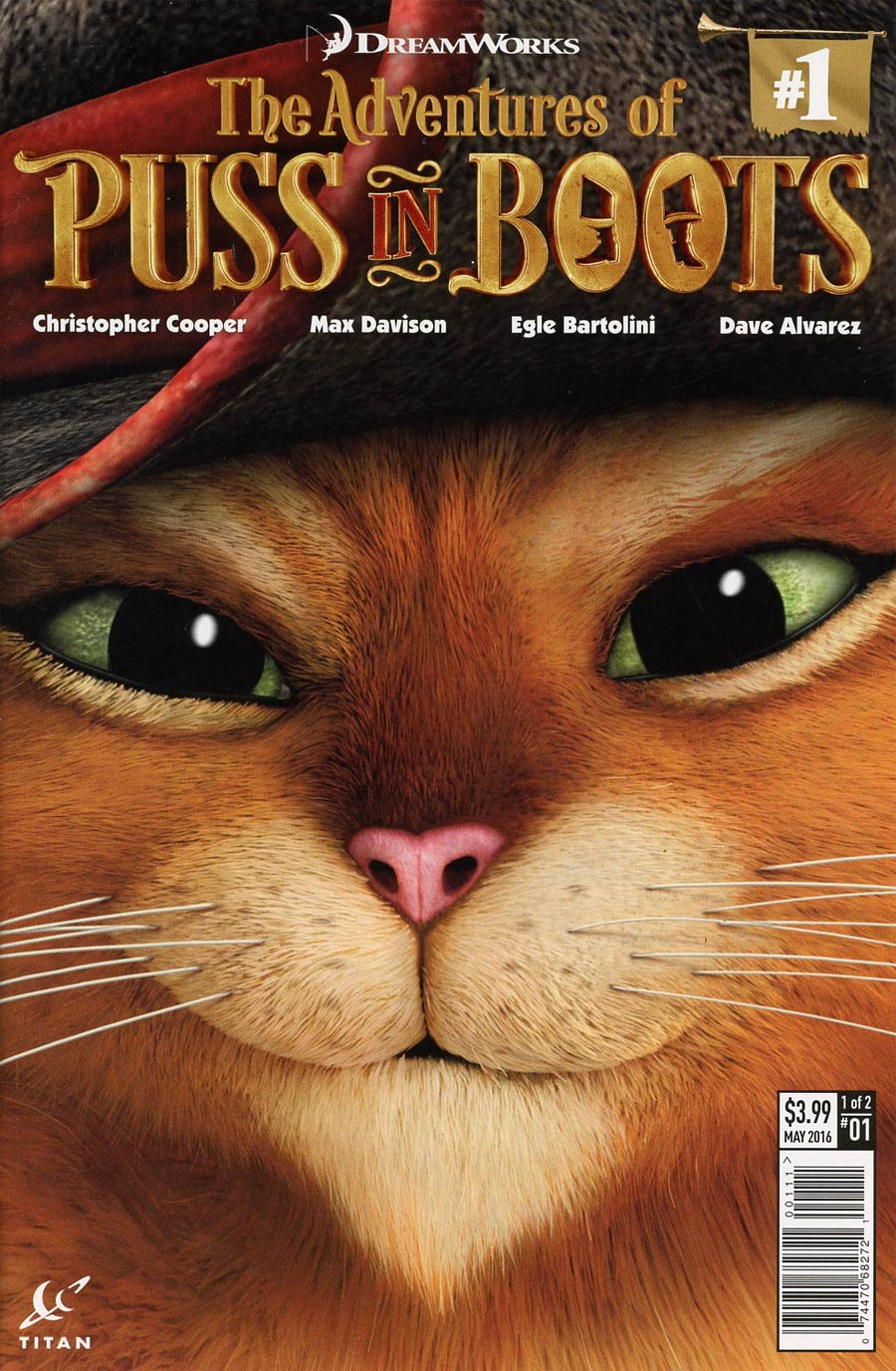 Puss In Boots #1 Cover A Regular CGI Cover