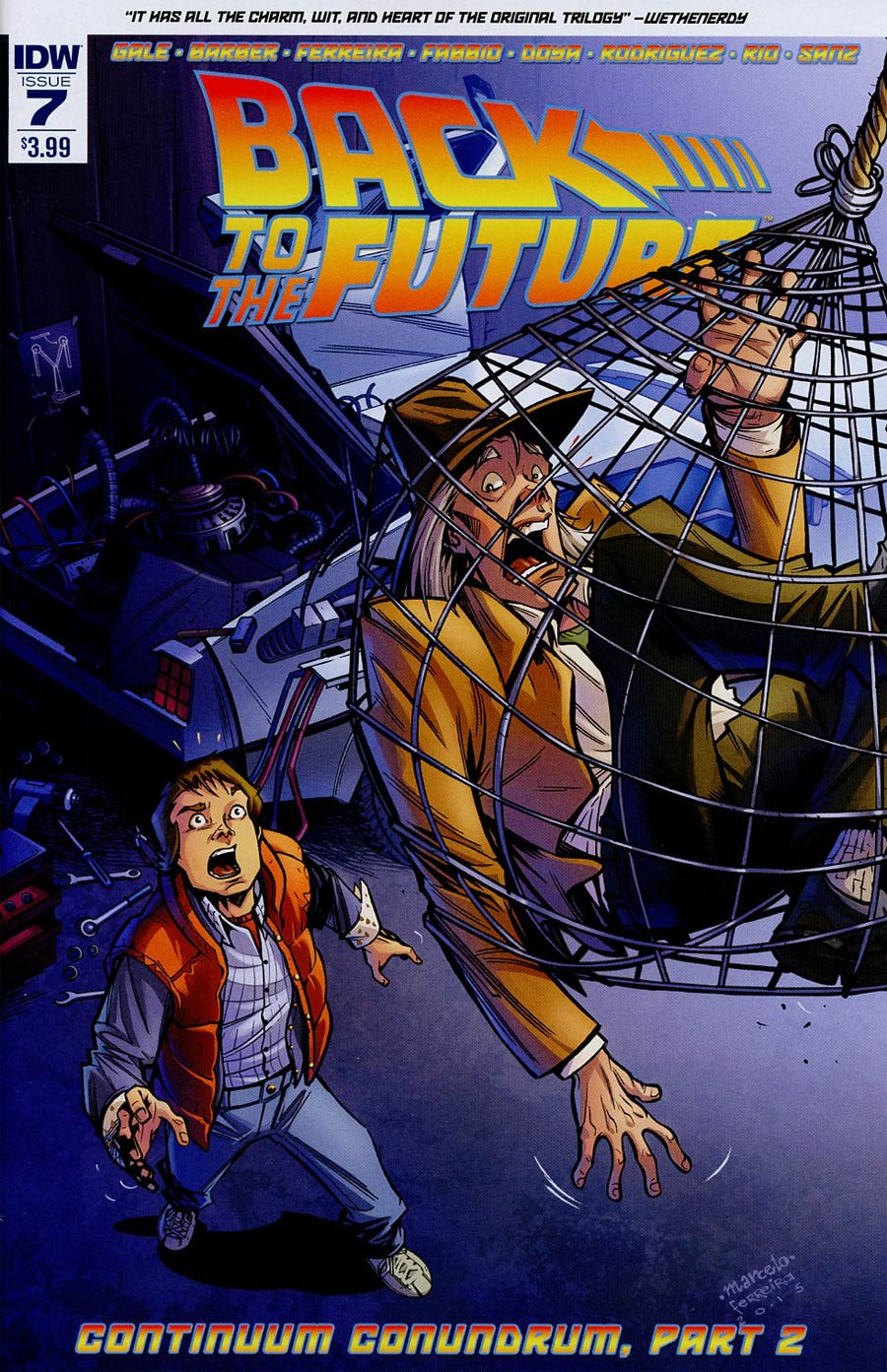 Back To The Future Vol 2 #7 Cover A Regular Marcelo Ferreira Cover