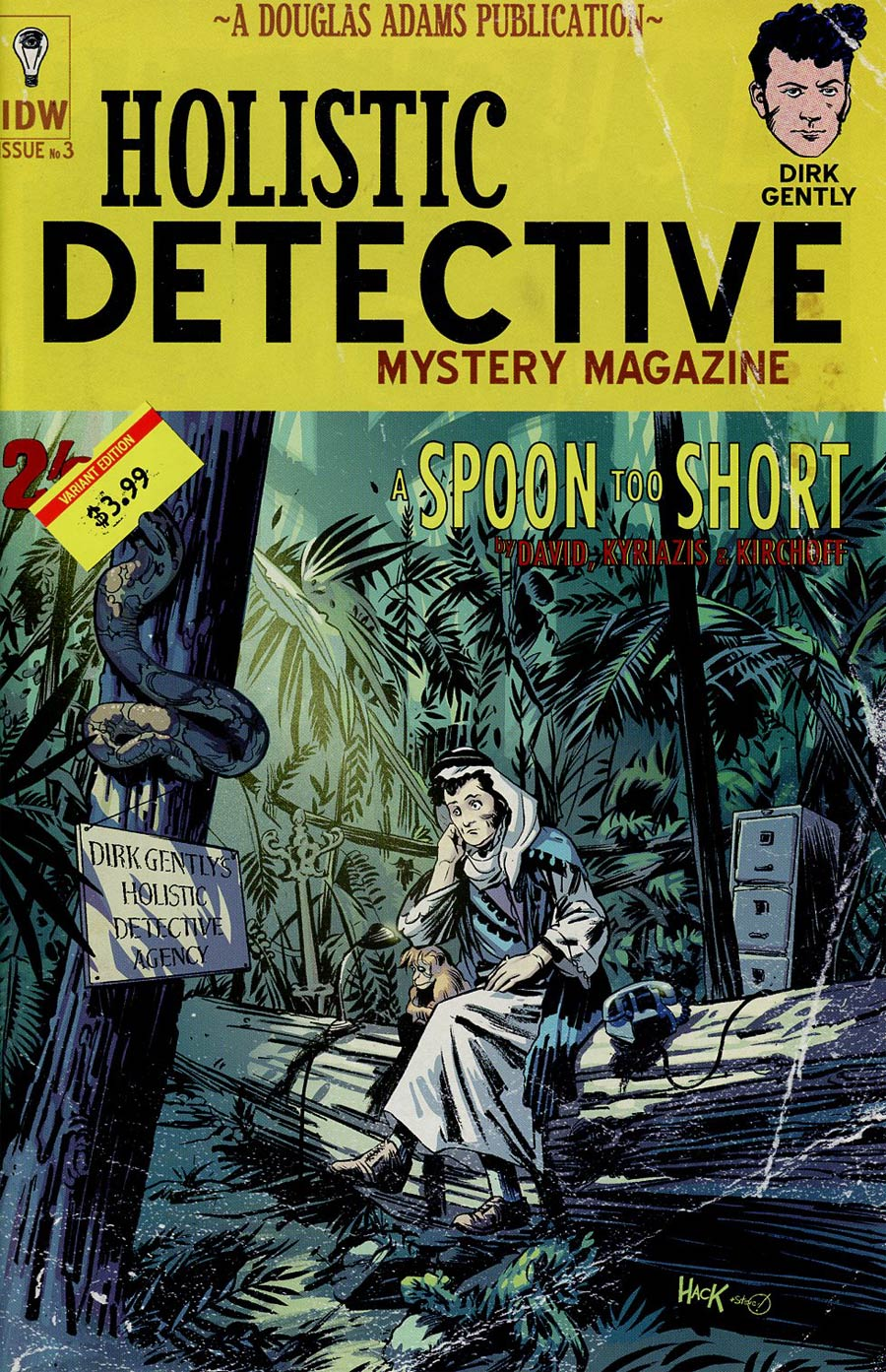 Dirk Gentlys Holistic Detective Agency A Spoon Too Short #3 Cover B Variant Robert Hack Subscription Cover