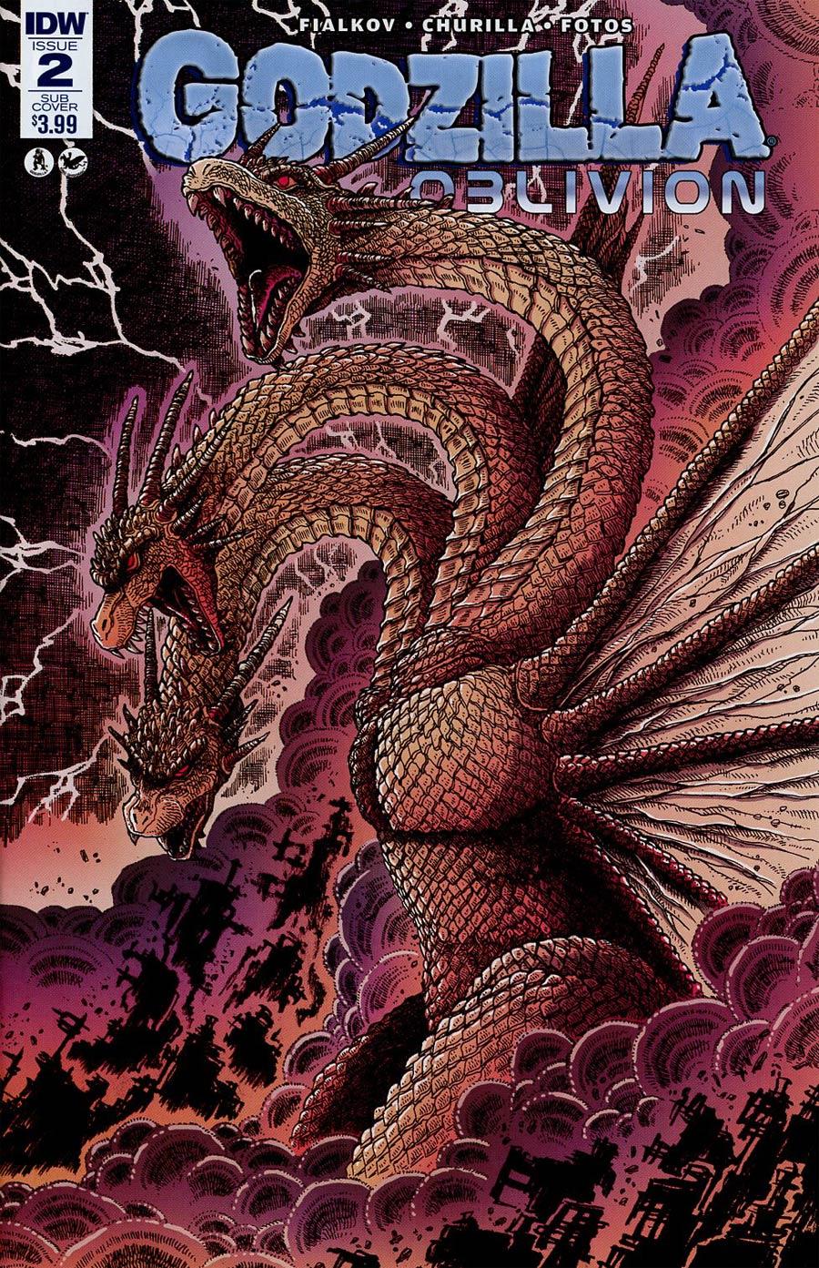 Godzilla Oblivion #2 Cover B Variant James Stokoe Subscription Cover