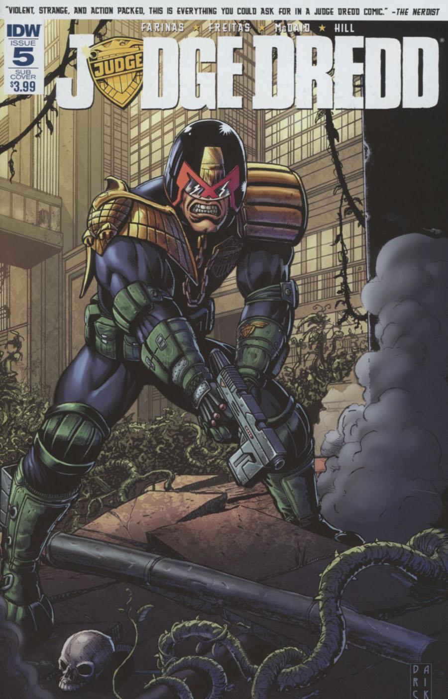 Judge Dredd Vol 5 #5 Cover B Variant Darick Robertson Subscription Cover