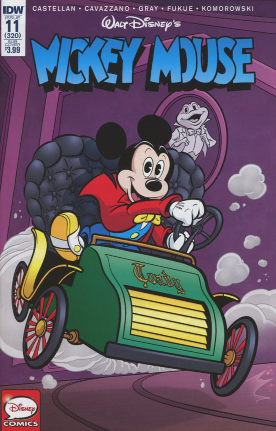 Mickey Mouse Vol 2 #11 Cover B Variant Fabio Pochet Mr Toads Wild Ride Subscription Cover