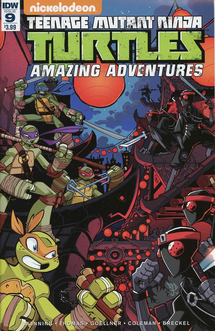 Teenage Mutant Ninja Turtles Amazing Adventures #9 Cover A Regular Jon Sommariva Cover