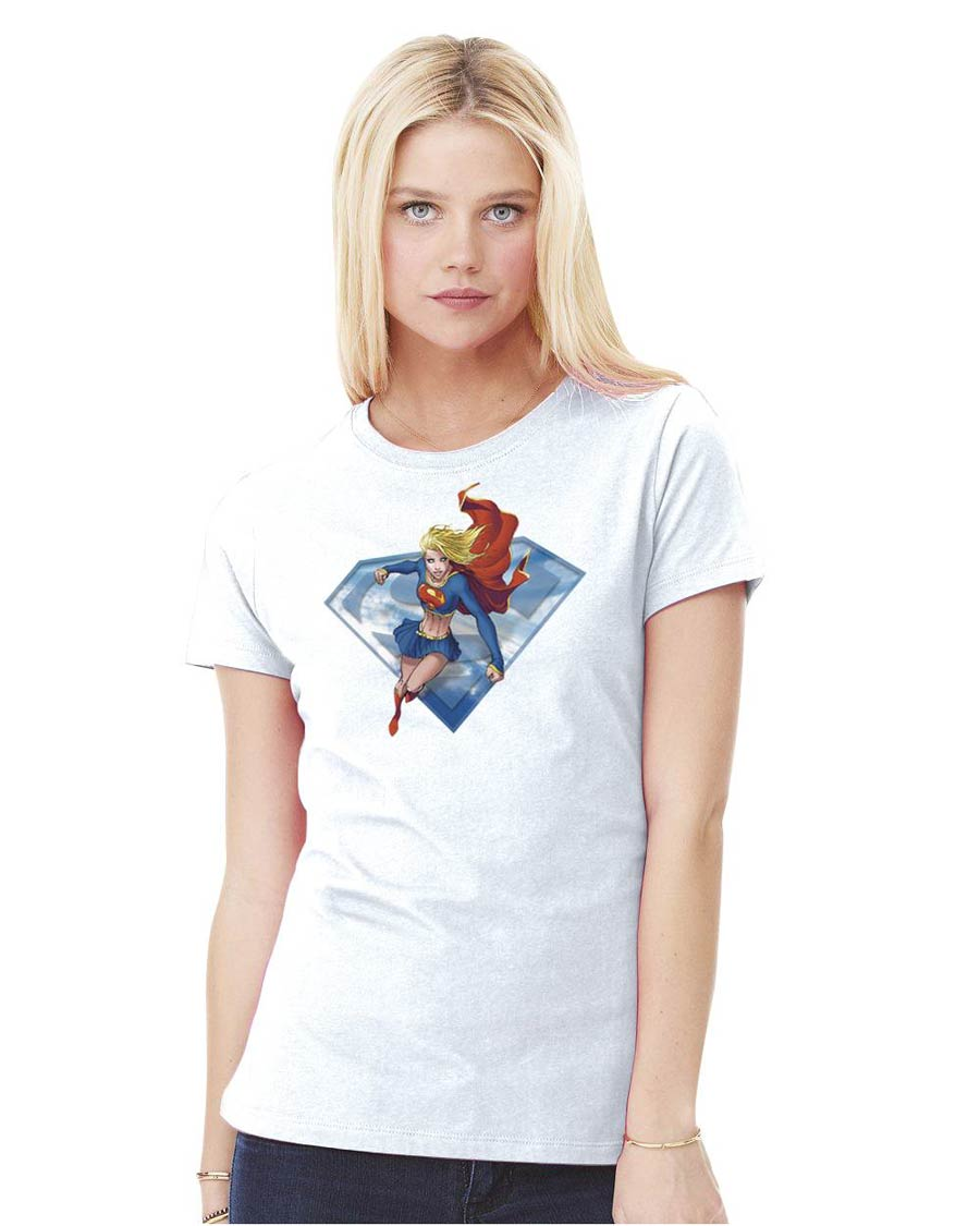 Supergirl By Michael Turner Womens T-Shirt Large