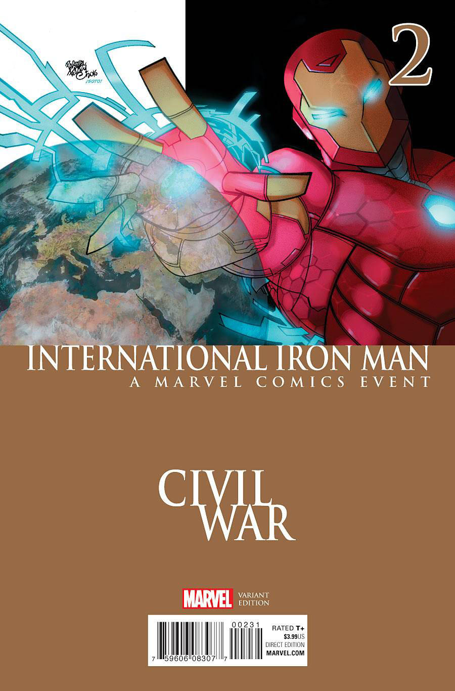 International Iron Man #2 Cover B Variant Civil War Cover