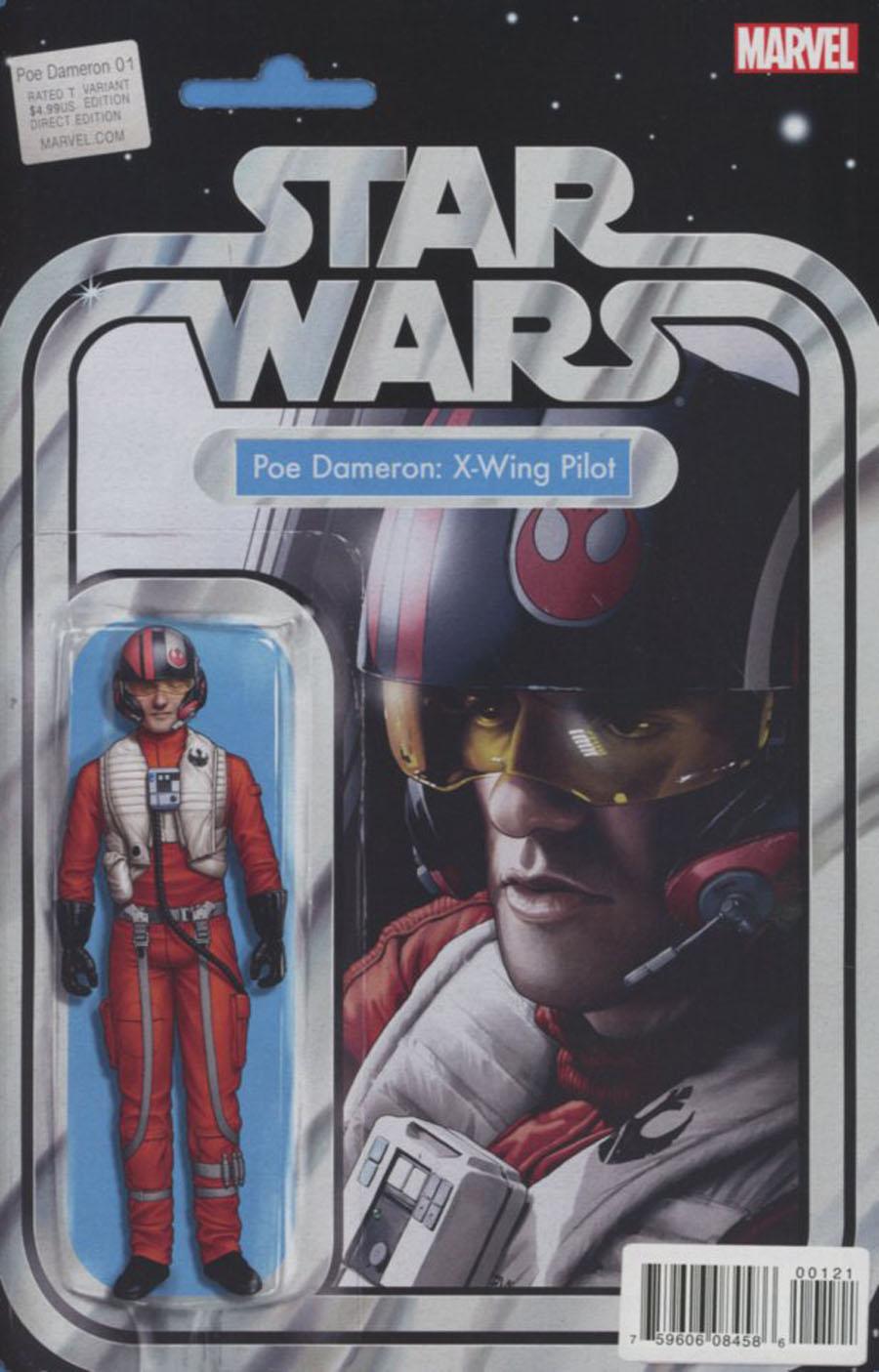 Star Wars Poe Dameron #1 Cover B Variant John Tyler Christopher Action Figure Cover