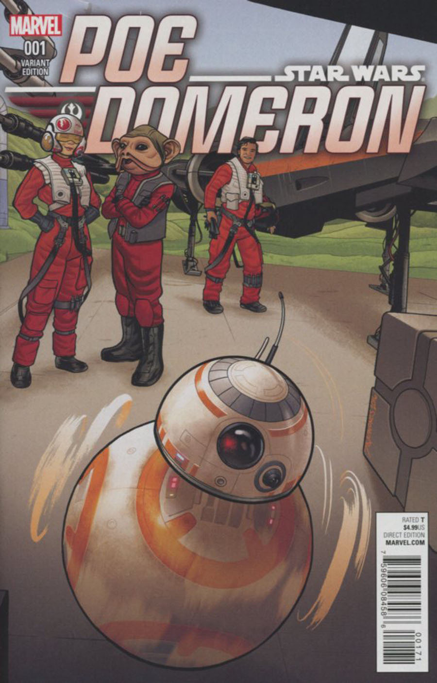 Star Wars Poe Dameron #1 Cover C Variant Joe Quinones BB-8 Cover
