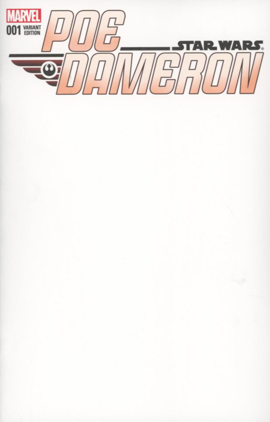 Star Wars Poe Dameron #1 Cover D Variant Blank Cover