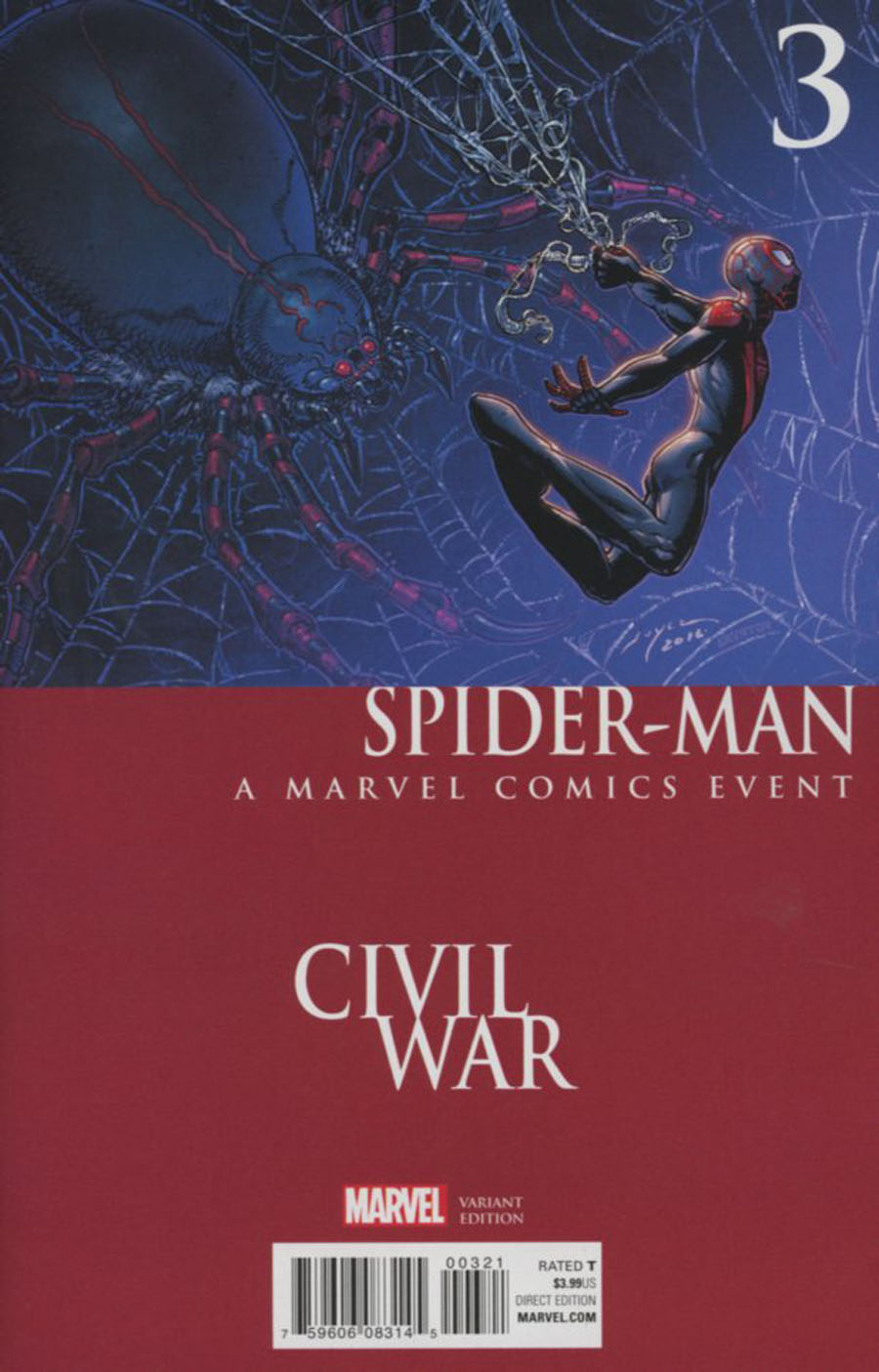 Spider-Man Vol 2 #3 Cover B Variant Mike Perkins Civil War Cover