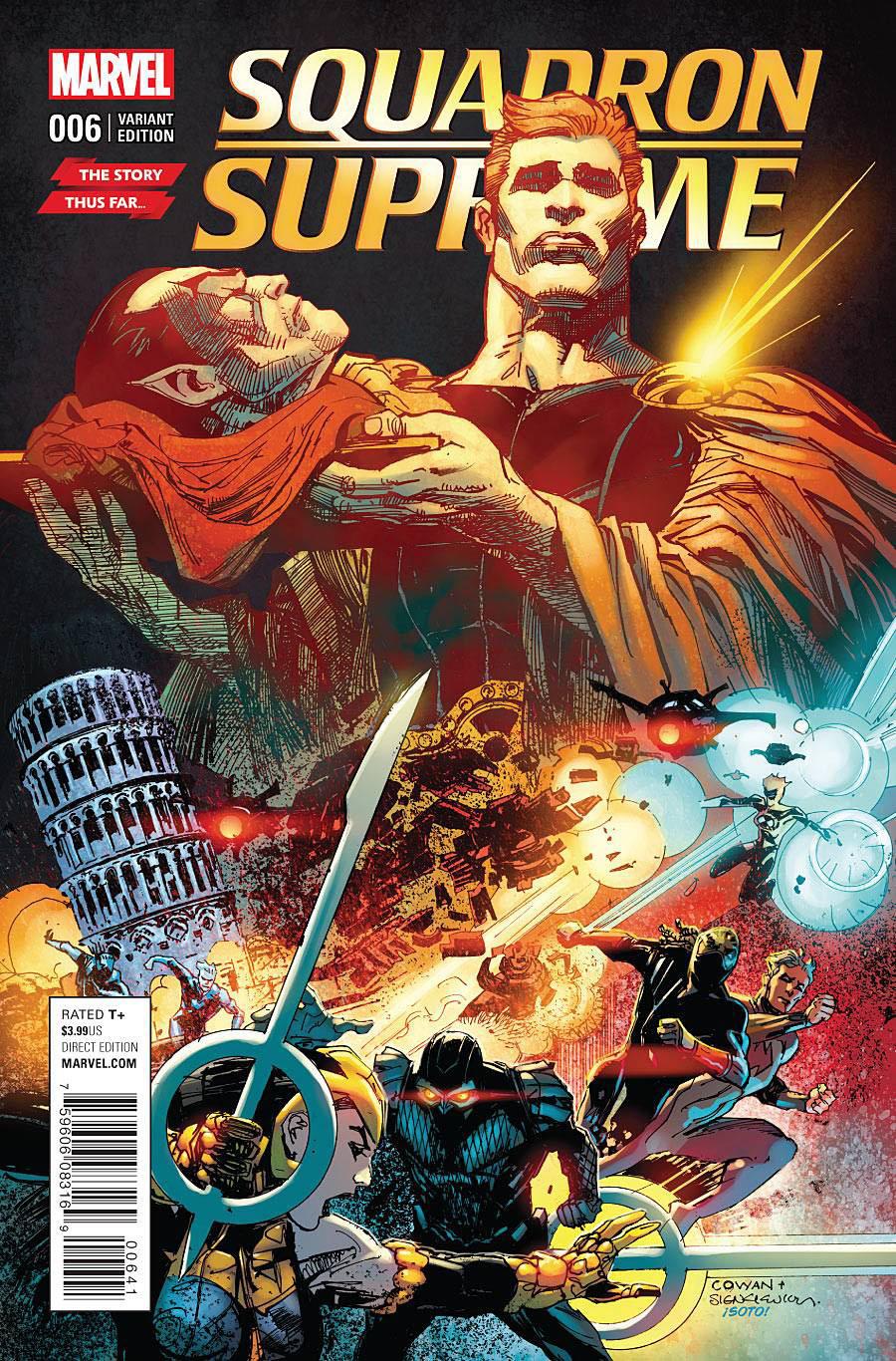Squadron Supreme Vol 4 #6 Cover B Variant Story Thus Far Cover