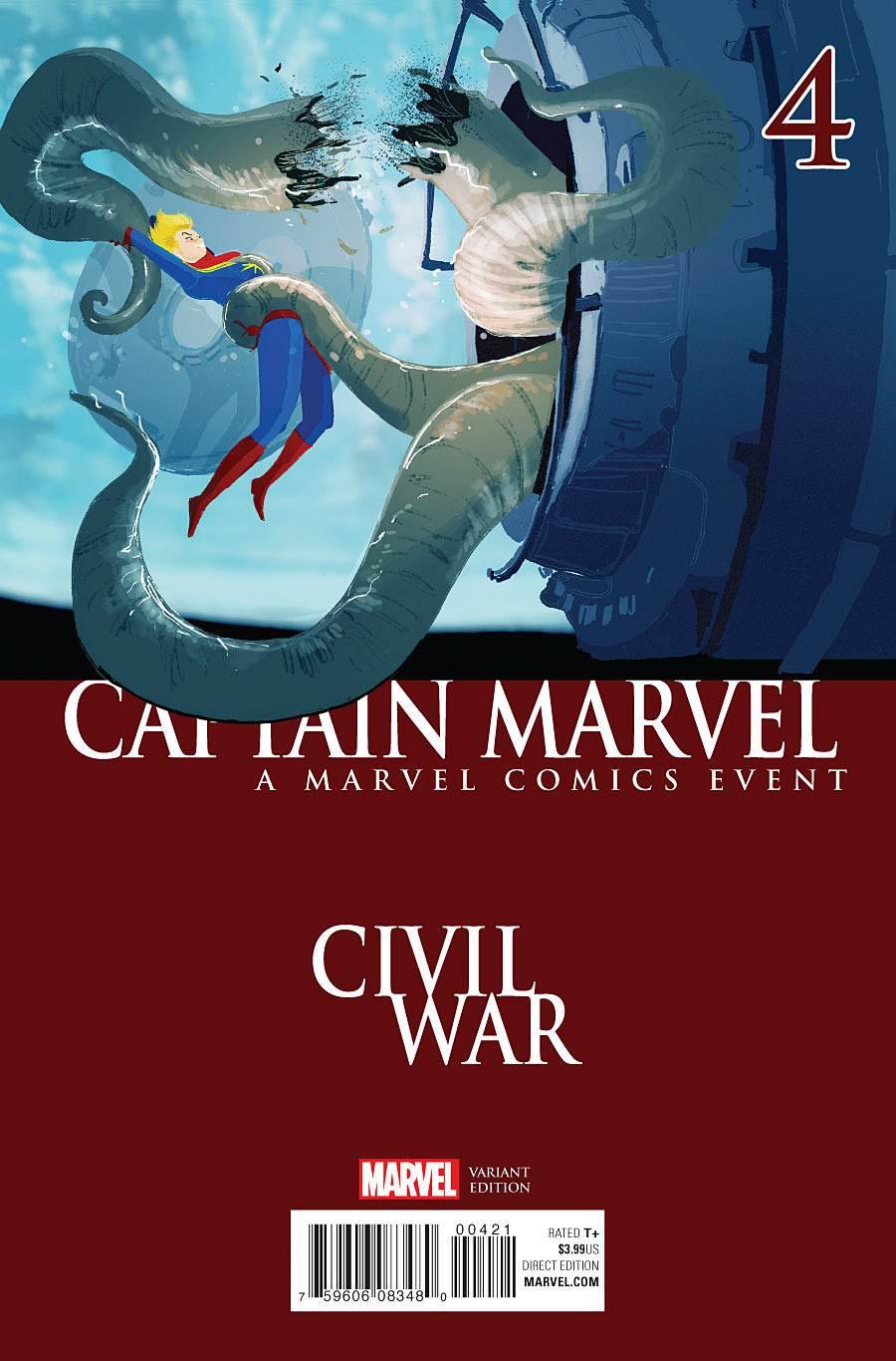 Captain Marvel Vol 8 #4 Cover B Variant Civil War Cover