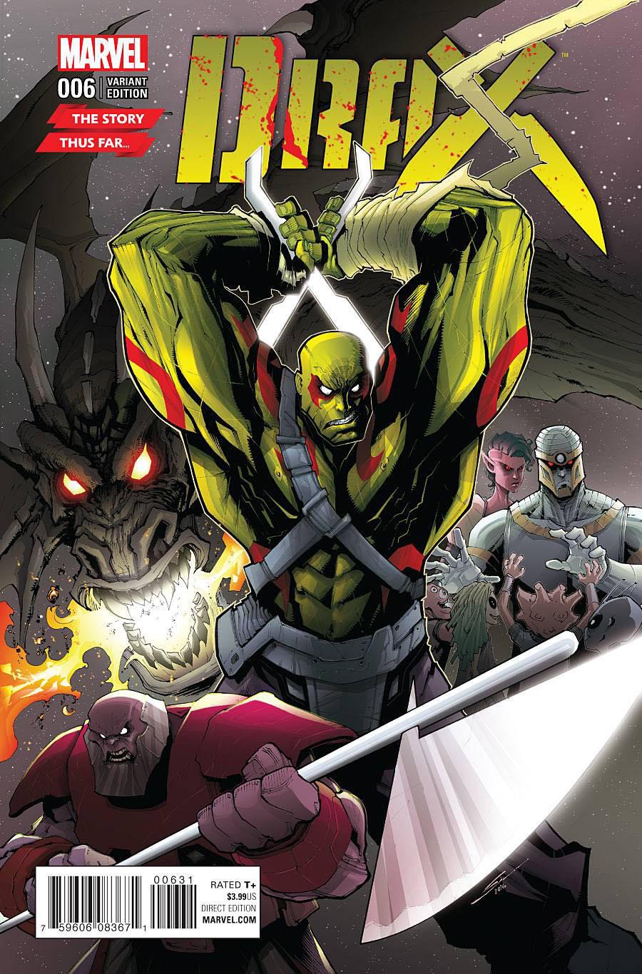 Drax #6 Cover B Variant Story Thus Far Cover