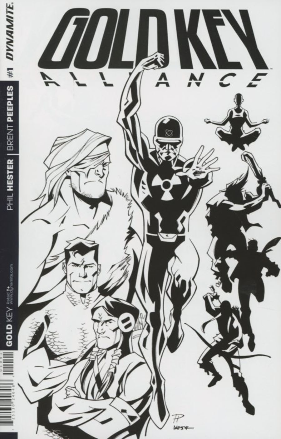 Gold Key Alliance #1 Cover D Incentive Phil Hester Black & White Cover