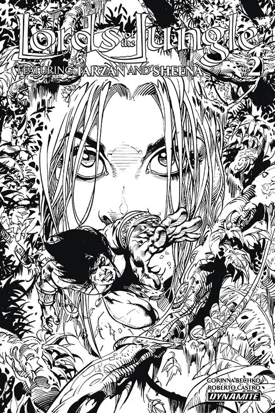 Lords Of The Jungle #2 Cover C Incentive Roberto Castro Black & White Cover