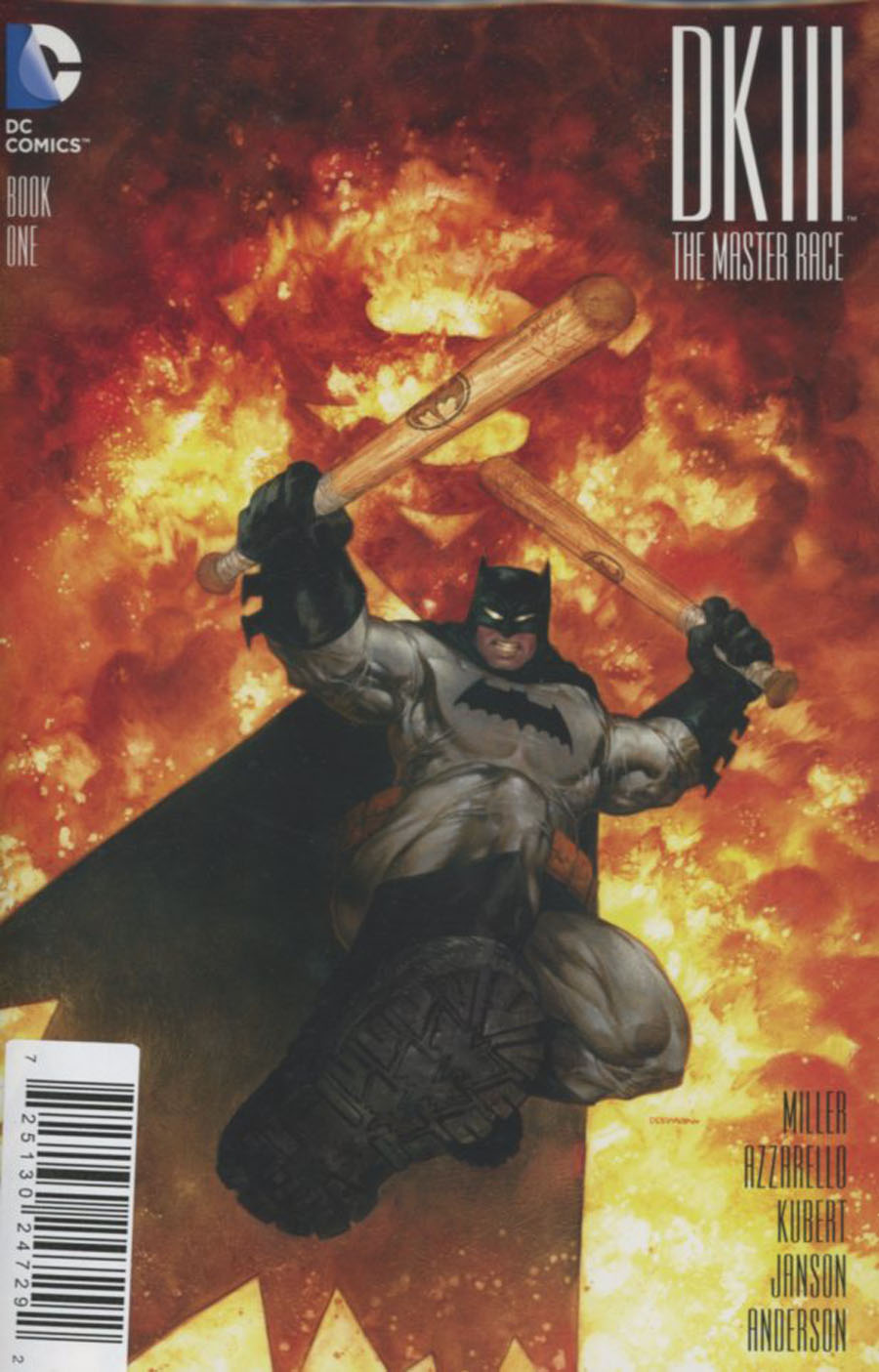 Dark Knight III The Master Race #1 Cover Z-S DF M&M Exclusive Dave Dorman Variant Cover