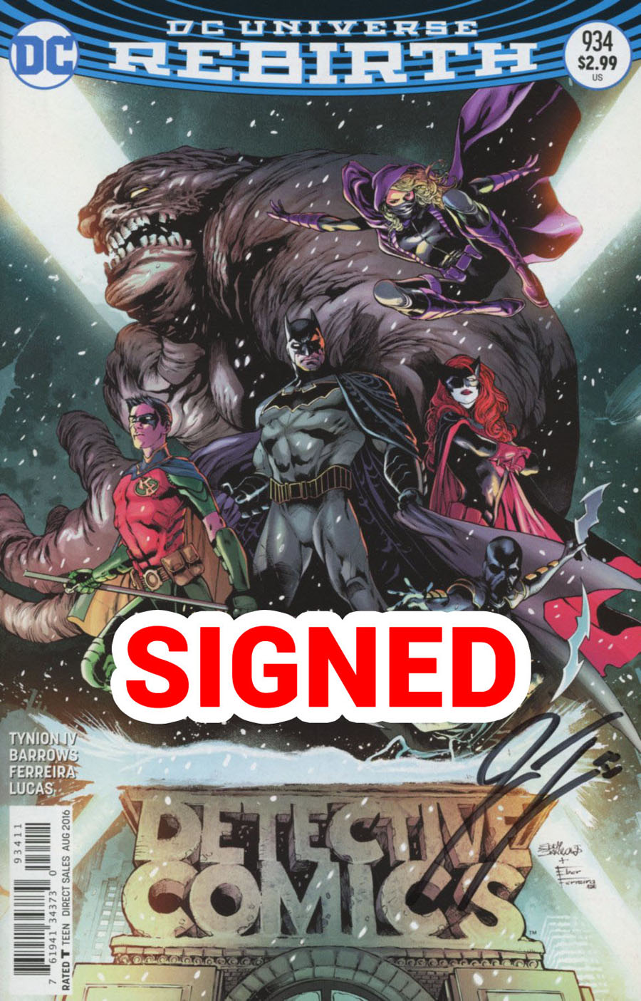 Detective Comics Vol 2 #934 Cover D Regular Eddy Barrows & Eber Ferreira Cover Signed By James Tynion IV
