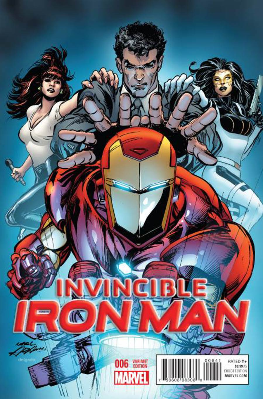 Invincible Iron Man Vol 2 #6 Cover D Incentive Neal Adams Variant Cover