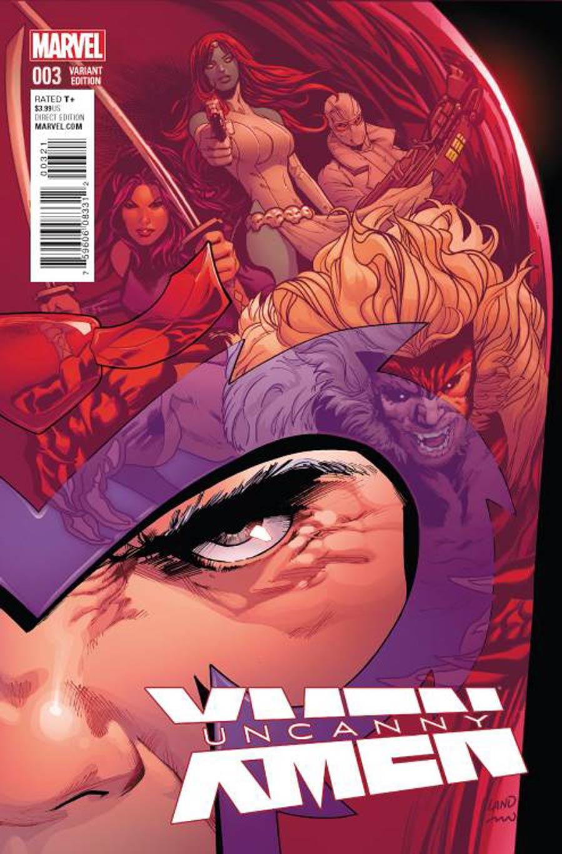 Uncanny X-Men Vol 4 #3 Cover B Incentive Greg Land Variant Cover