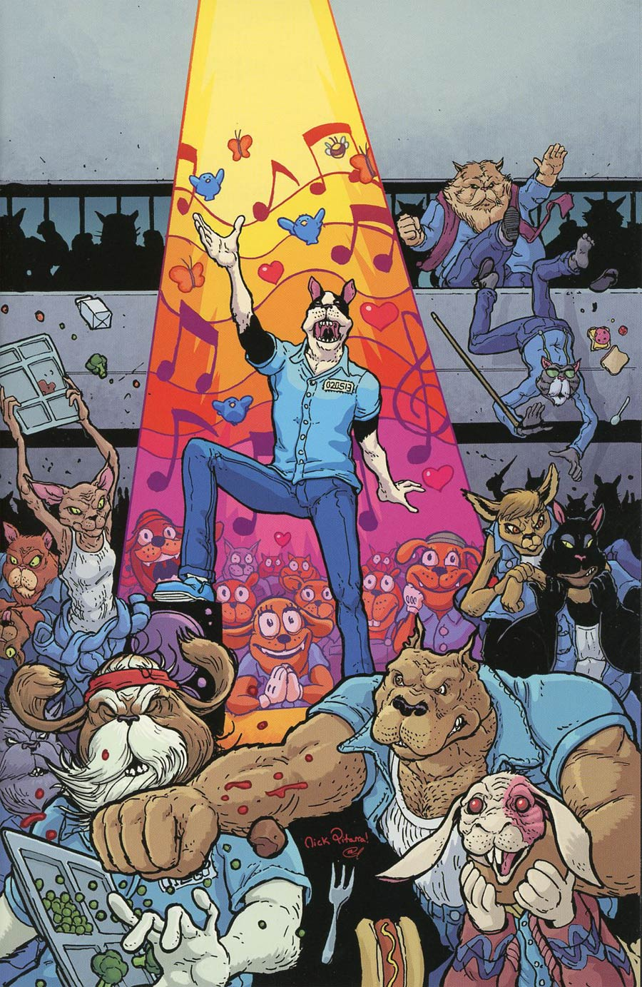 Kennel Block Blues #1 Cover B Incentive Nick Pitarra Virgin Variant Cover